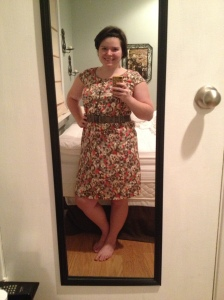 Merona Dress from Target, accessorized with belt from Target